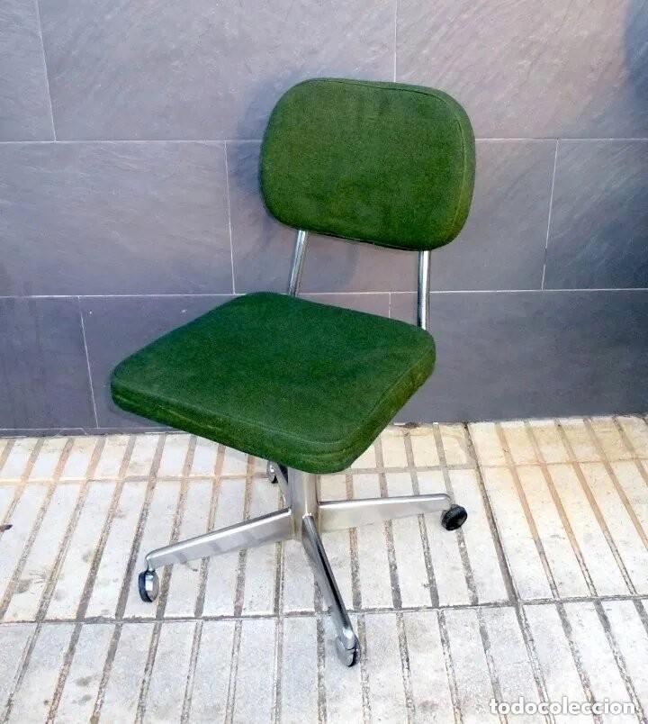 SILLA DE OFICINA REGULABLE. (Vintage - Muebles)