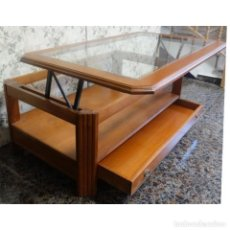 Vintage: MESA CENTRO CLASICA ELEVABLE 120 X 70. Lote 190924621