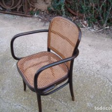 Vintage: SILLON DE MADERA I REJILLA COSIDA A MANO. Lote 236503225