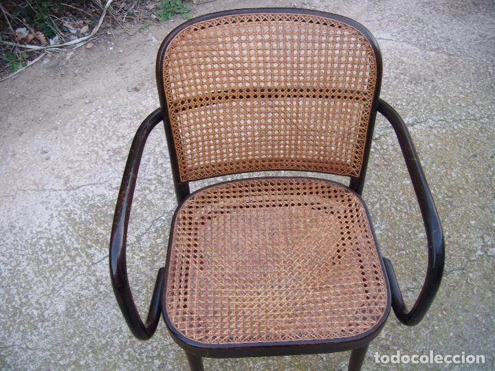 Vintage: Sillon de madera i rejilla cosida a mano - Foto 3 - 236503225