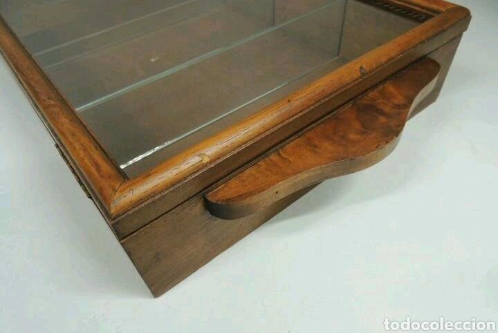 Vintage: Vitrina de colgar en madera de Haya con baldas de cristal - Foto 8 - 193848932