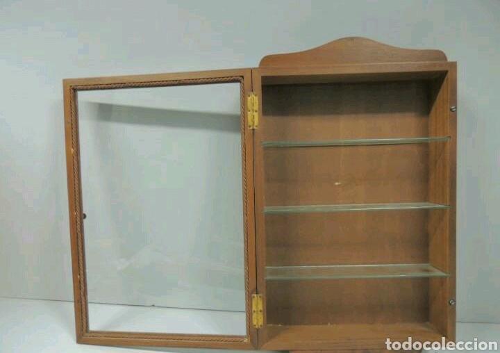 Vintage: Vitrina de colgar en madera de Haya con baldas de cristal - Foto 9 - 193848932
