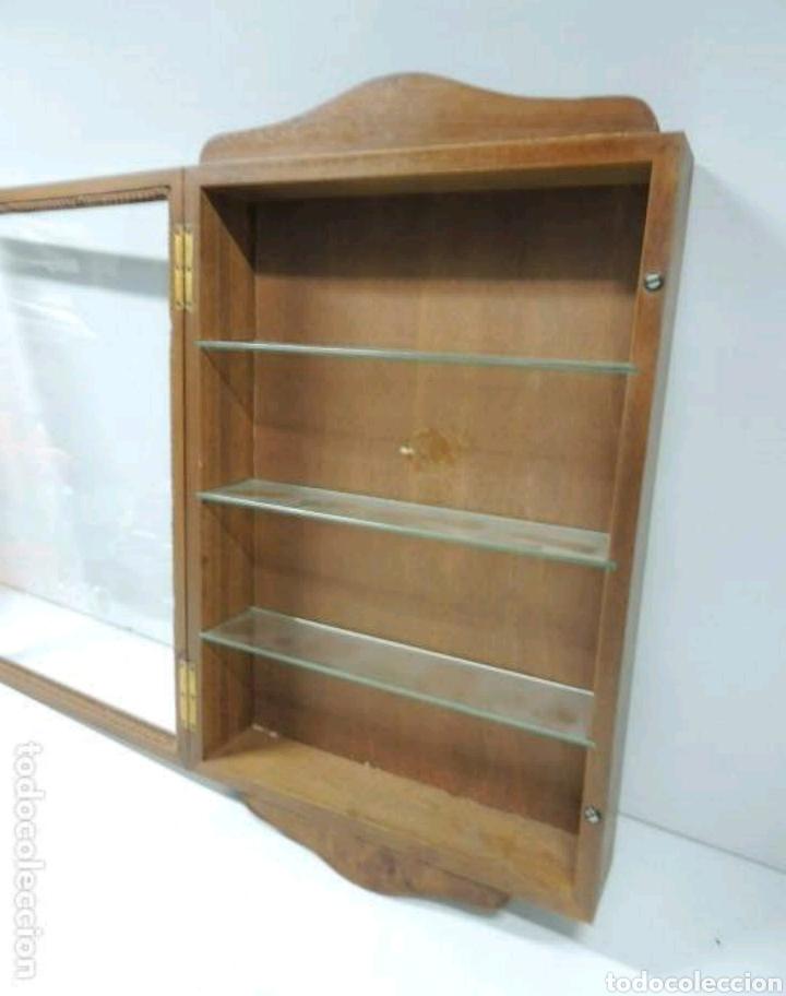 Vintage: Vitrina de colgar en madera de Haya con baldas de cristal - Foto 10 - 193848932