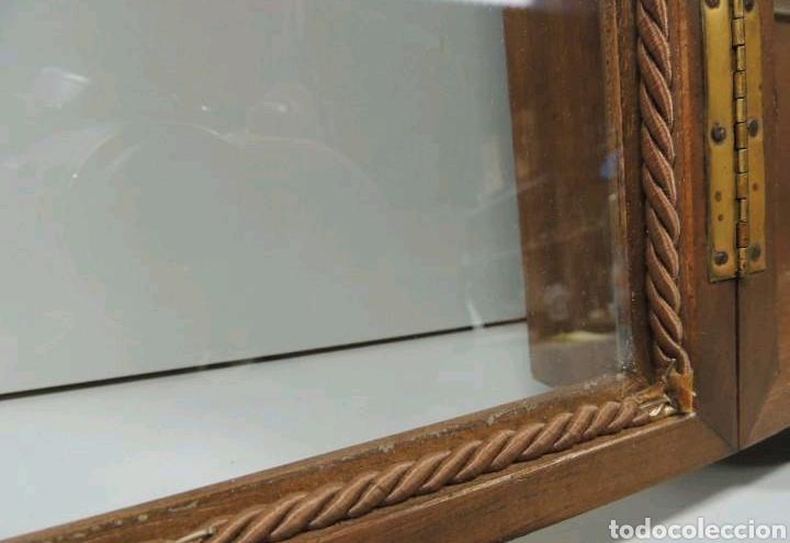 Vintage: Vitrina de colgar en madera de Haya con baldas de cristal - Foto 12 - 193848932
