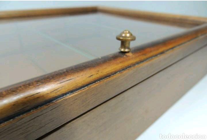 Vintage: Vitrina de colgar en madera de Haya con baldas de cristal - Foto 18 - 193848932