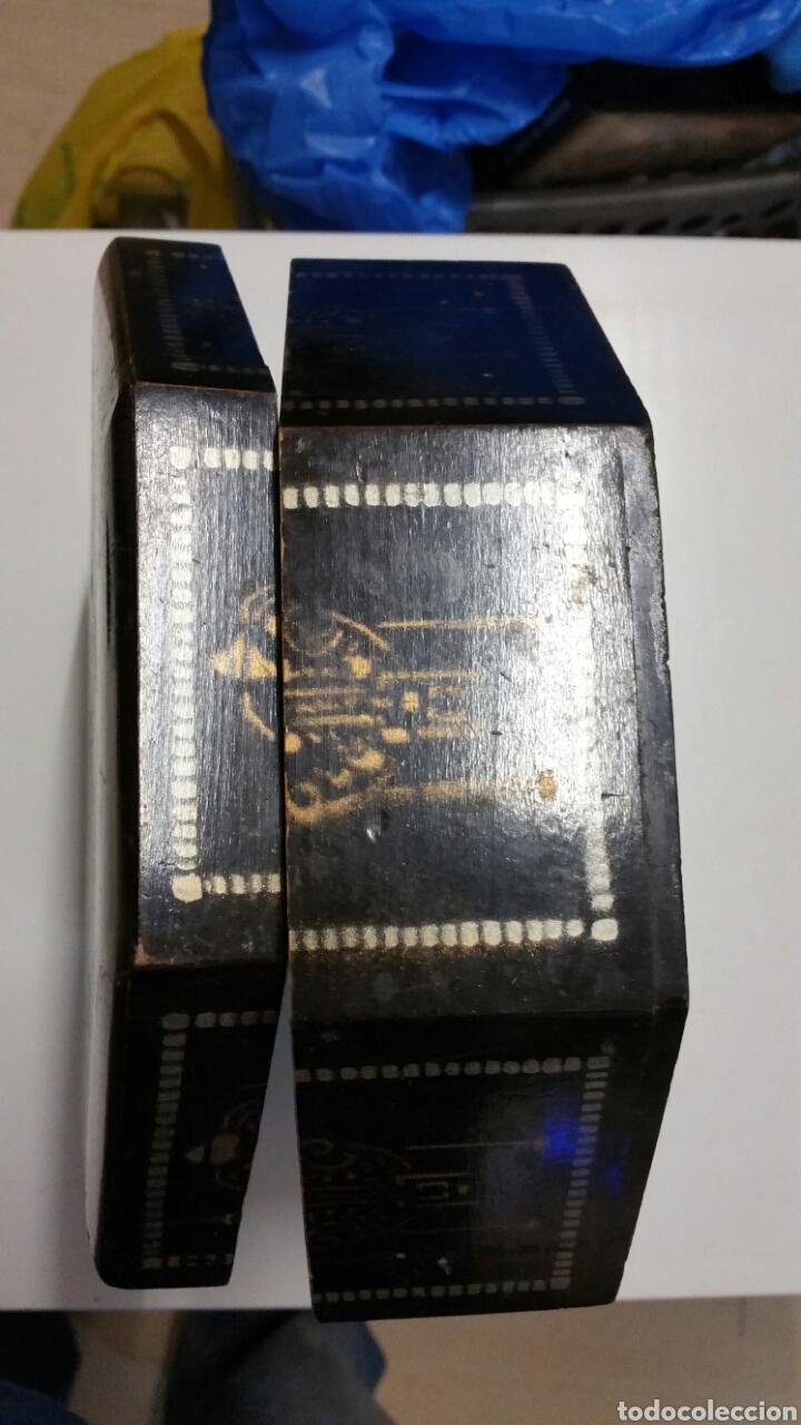 Vintage: Antigua caja baul joyero madera chino japon - Foto 6 - 194246950