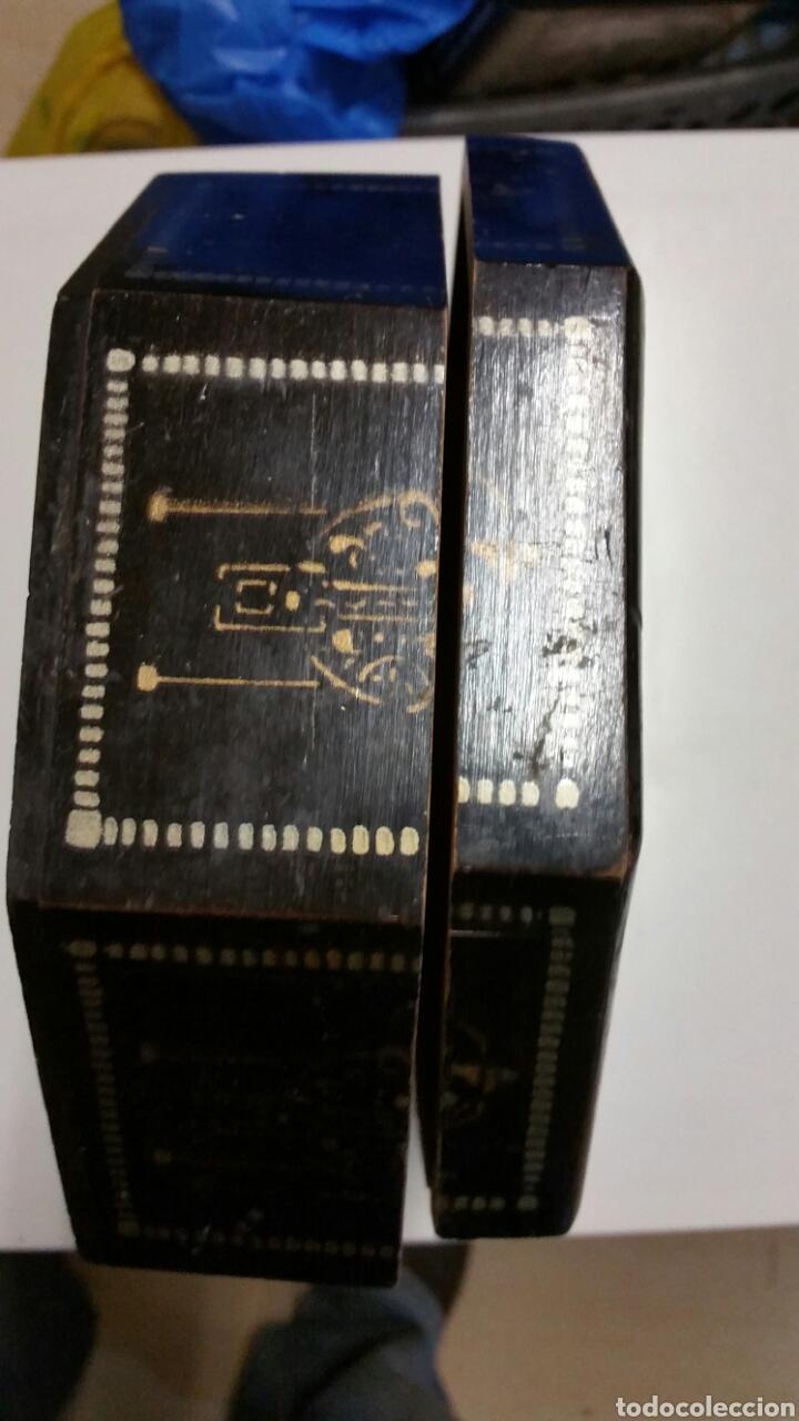 Vintage: Antigua caja baul joyero madera chino japon - Foto 7 - 194246950