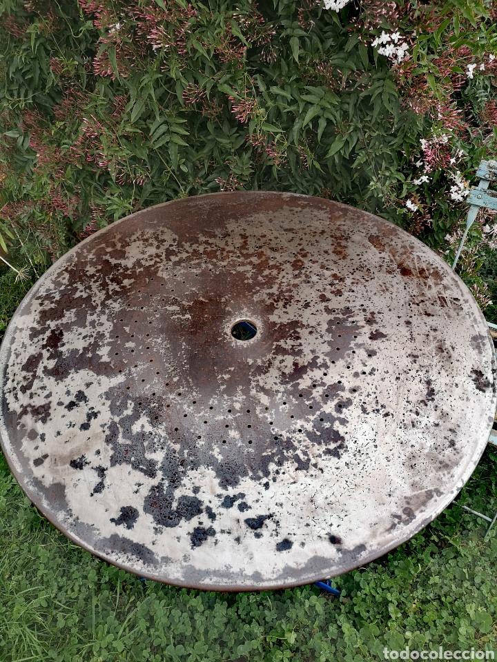 Vintage: Mesa plegable de hierro francesa - Foto 3 - 194312386