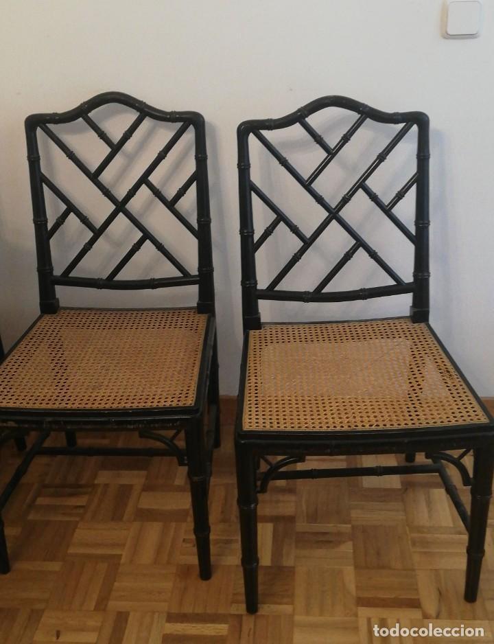 Vintage: Cuatro sillas lacadas en negro hacia 1970 - 1980 - Foto 3 - 194767841
