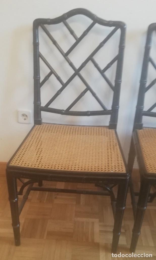 Vintage: Cuatro sillas lacadas en negro hacia 1970 - 1980 - Foto 4 - 194767841