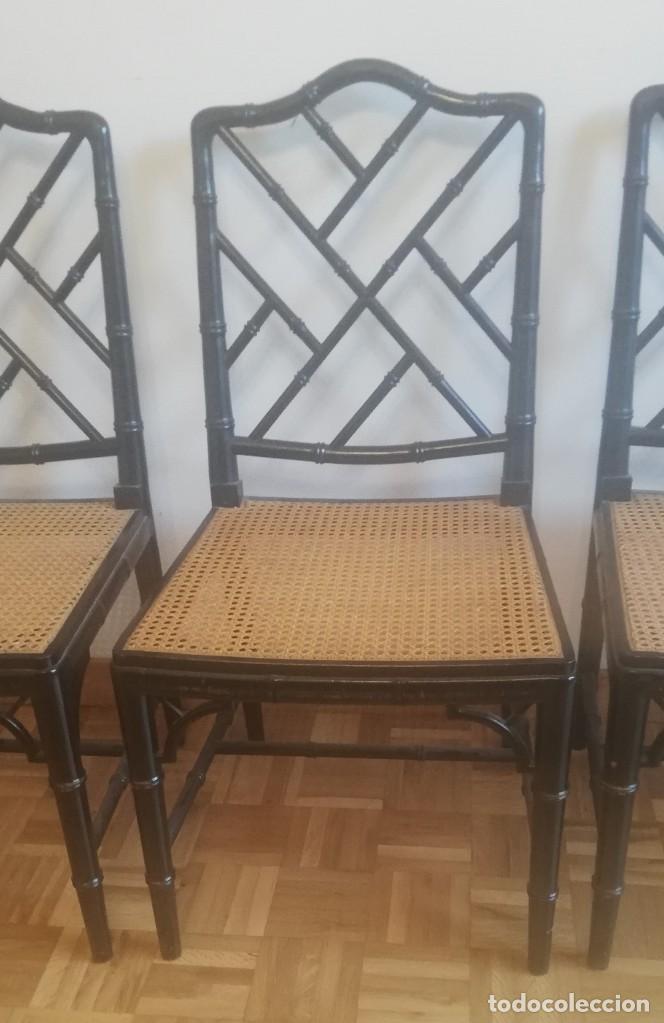 Vintage: Cuatro sillas lacadas en negro hacia 1970 - 1980 - Foto 5 - 194767841