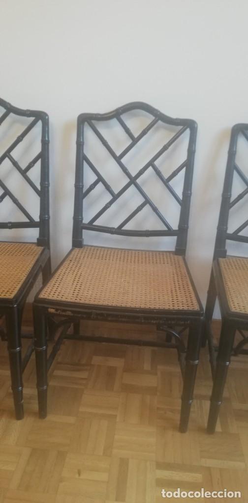 Vintage: Cuatro sillas lacadas en negro hacia 1970 - 1980 - Foto 10 - 194767841
