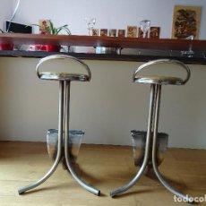 Vintage: DOS TABURETES DE BAR. Lote 194951415