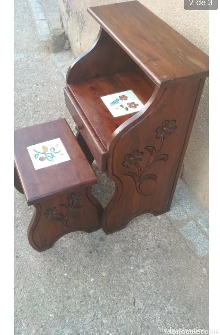 ESCRITORIO COMPLETO MADERA. (Vintage - Muebles)