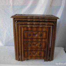 Vintage: MESITAS AUXILIARES TRES CAJONES. Lote 205701212
