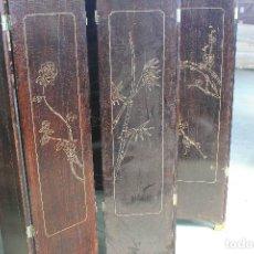 Vintage: BIOMBO LACADO 6 HOJAS. Lote 205709255
