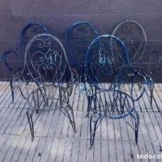 Vintage: SOLAMENTE 4 SILLAS DE TERRAZA O JARDIN.. Lote 205753911