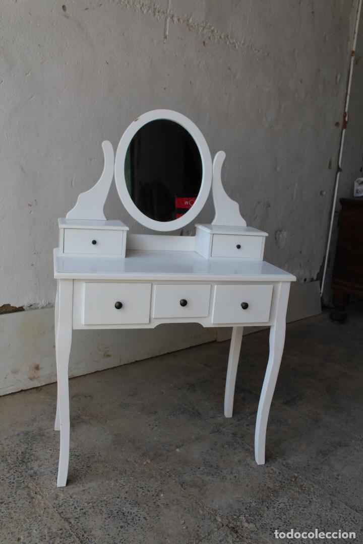 Vintage: tocador con espejo, mesa para maquillaje, con cajones, blanco - Foto 8 - 206954807