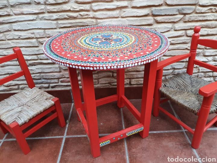Vintage: Conjunto infantil de sillas y mesa - Foto 3 - 208312082