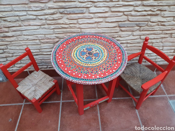 Vintage: Conjunto infantil de sillas y mesa - Foto 5 - 208312082