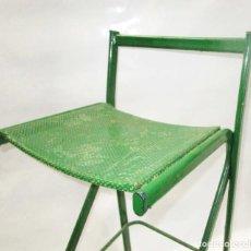 Vintage: TABURETE HIERRO ALTO INDUSTRIAL. Lote 208430157
