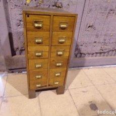 Vintage: MUEBLE TALLER TIENDA INDUSTRIAL CON CAJONES Y TIRADORES VINTAGE DE MADERA. Lote 209359275