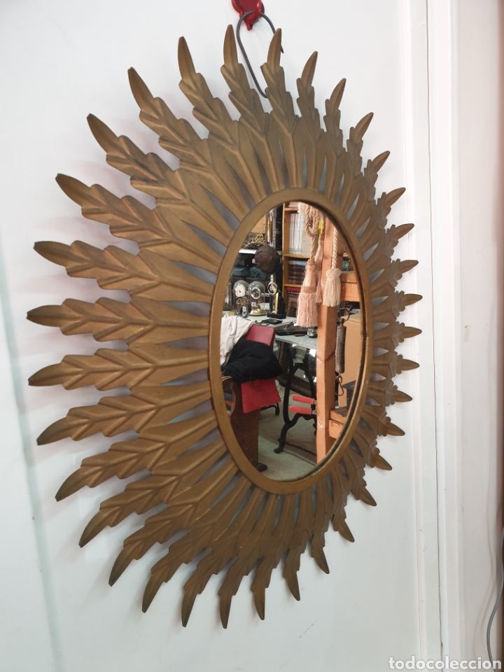Vintage: Espejo de hierro 70x61 - Foto 3 - 210646424