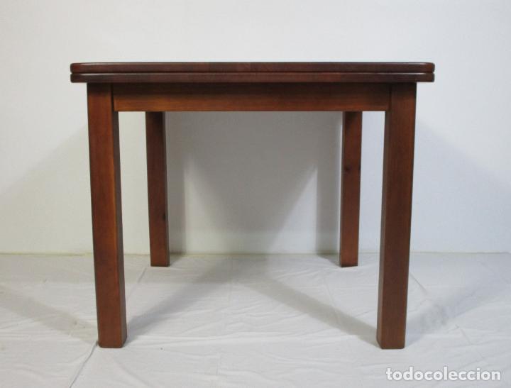 Vintage: Mesa Extensible de Comedor - Madera de Haya - 90 cm x 90 cm - Retro, Vintage - Foto 3 - 210717052