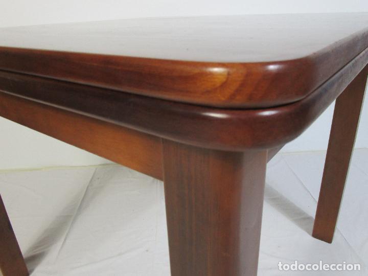 Vintage: Mesa Extensible de Comedor - Madera de Haya - 90 cm x 90 cm - Retro, Vintage - Foto 4 - 210717052