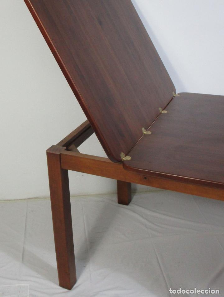 Vintage: Mesa Extensible de Comedor - Madera de Haya - 90 cm x 90 cm - Retro, Vintage - Foto 5 - 210717052