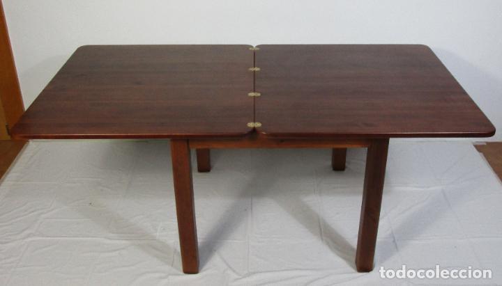 Vintage: Mesa Extensible de Comedor - Madera de Haya - 90 cm x 90 cm - Retro, Vintage - Foto 8 - 210717052