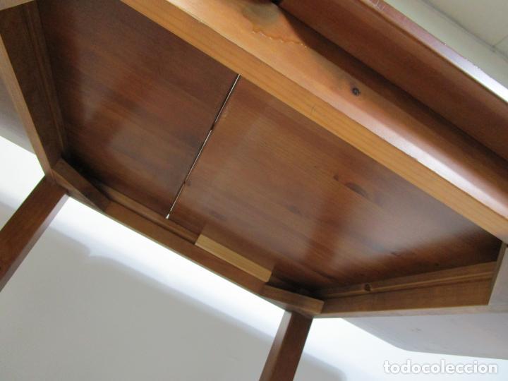 Vintage: Mesa Extensible de Comedor - Madera de Haya - 90 cm x 90 cm - Retro, Vintage - Foto 9 - 210717052