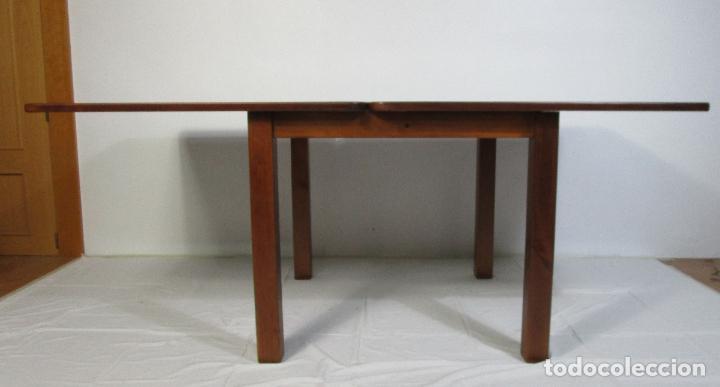 Vintage: Mesa Extensible de Comedor - Madera de Haya - 90 cm x 90 cm - Retro, Vintage - Foto 10 - 210717052