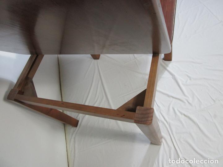 Vintage: Mesa Extensible de Comedor - Madera de Haya - 90 cm x 90 cm - Retro, Vintage - Foto 11 - 210717052
