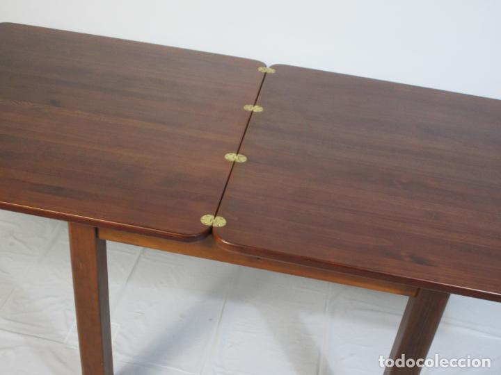 Vintage: Mesa Extensible de Comedor - Madera de Haya - 90 cm x 90 cm - Retro, Vintage - Foto 12 - 210717052