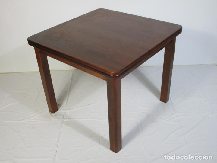 Vintage: Mesa Extensible de Comedor - Madera de Haya - 90 cm x 90 cm - Retro, Vintage - Foto 13 - 210717052