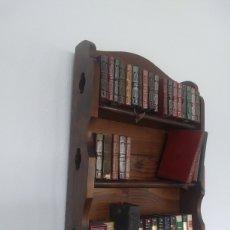 Vintage: ESTANTERIA PARA LIBROS EN MINIATURA. Lote 210756279