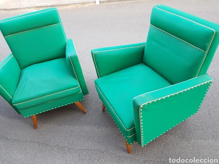 Vintage: Magnifica pareja sillones retro vintage - Foto 2 - 212407605
