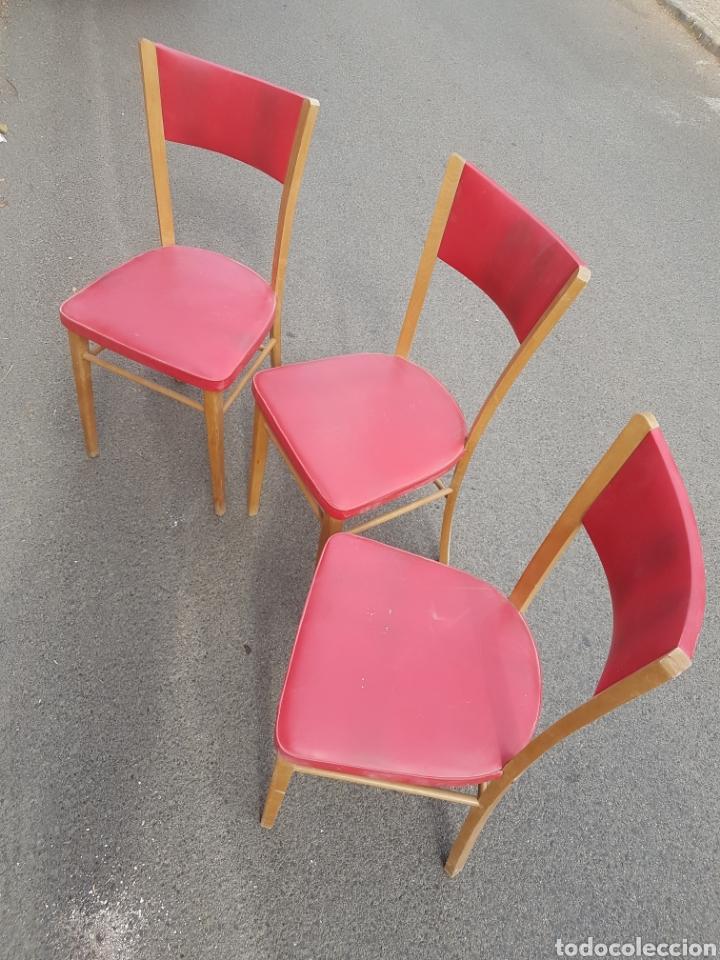 Vintage: Trio de sillas vintage skay rojo - Foto 2 - 212525418