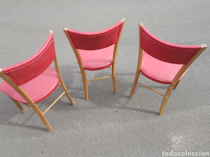 Vintage: Trio de sillas vintage skay rojo - Foto 3 - 212525418