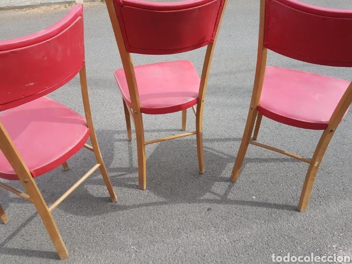 Vintage: Trio de sillas vintage skay rojo - Foto 4 - 212525418