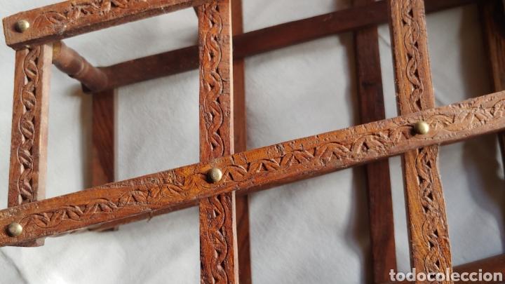 Vintage: Botellero plegable o acordeón de madera vintage - Foto 2 - 216839436