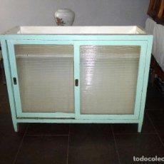 Vintage: ANTIGUO MOSTRADOR DE TIENDA,MADERA Y CRISTAL. 100 X 130 X 50 CM... Lote 216940255