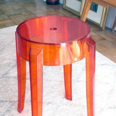 Vintage: SILLA TABURETE CHARLES GHOST BY KARTELL WITH PHILIPPE STARCK. Lote 217131432