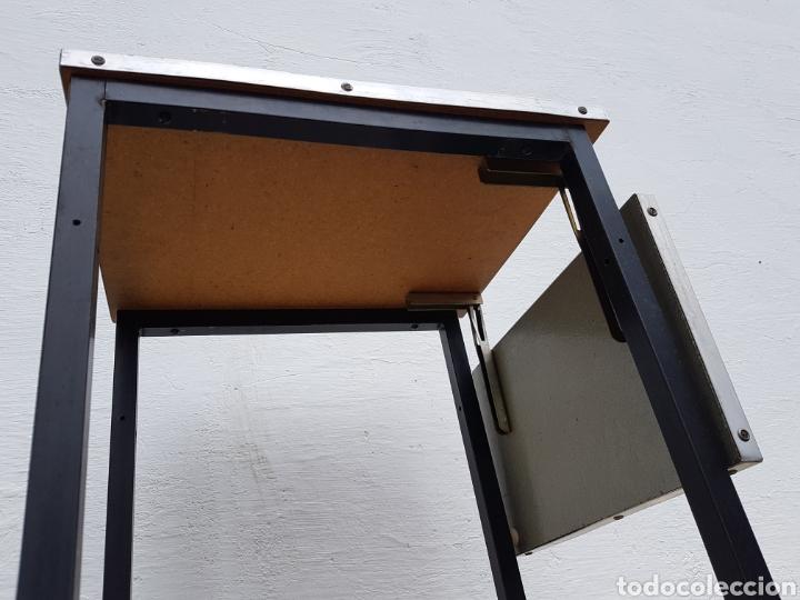 Vintage: Mesita auxiliar de taller u oficina antigua, de hierro a - Foto 5 - 219448383