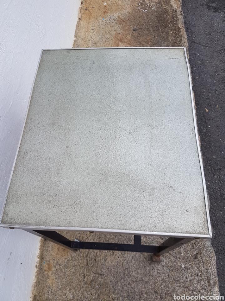 Vintage: Mesita auxiliar de taller u oficina antigua, de hierro a - Foto 8 - 219448383