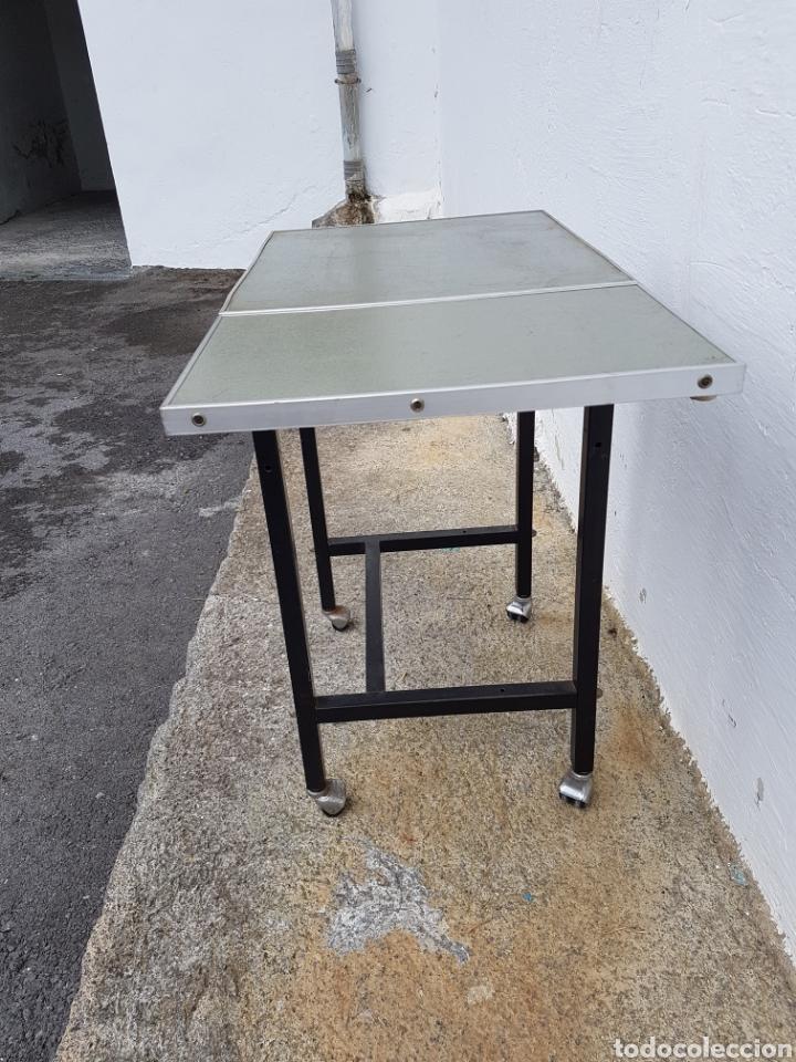 Vintage: Mesita auxiliar de taller u oficina antigua, de hierro a - Foto 9 - 219448383