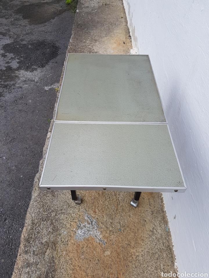 Vintage: Mesita auxiliar de taller u oficina antigua, de hierro a - Foto 10 - 219448383