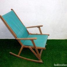 Vintage: MECEDORA DE LONA PLEGABLE.90 X 90 X 60 CM.. Lote 220794227