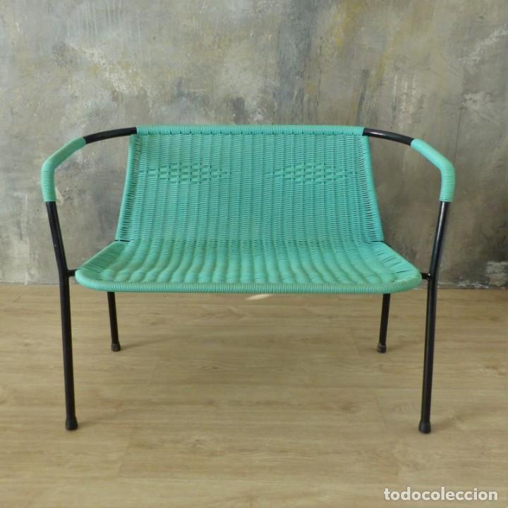 Vintage: Banco vintage con dos sillas. 1960 - 1970 - Foto 8 - 221515677